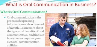 What is Oral Communication