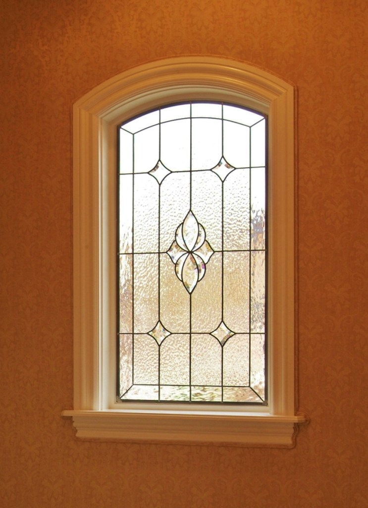 Bathroom Stained Glass corner window