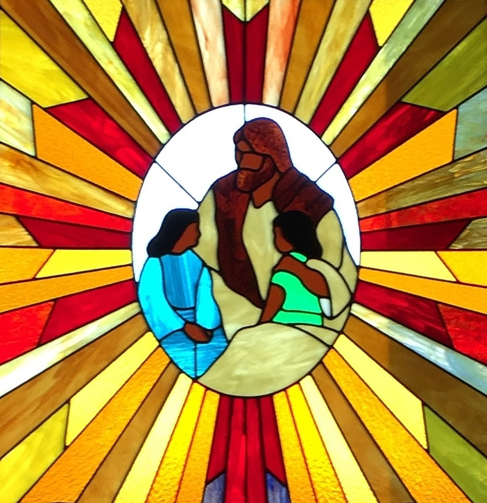 Church Stained Glass Baby
