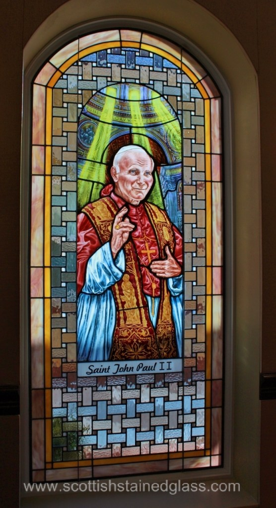 Church Stained Glass Large Pope