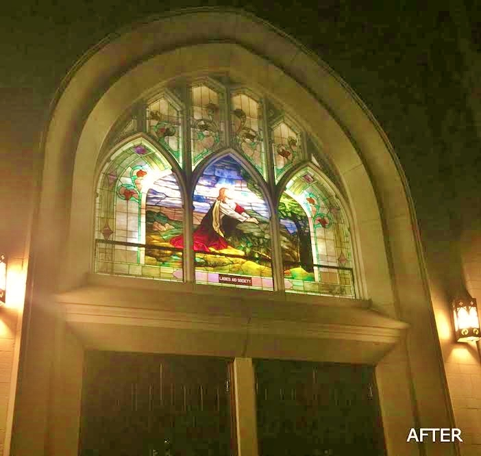 Church Stained Glass Transom