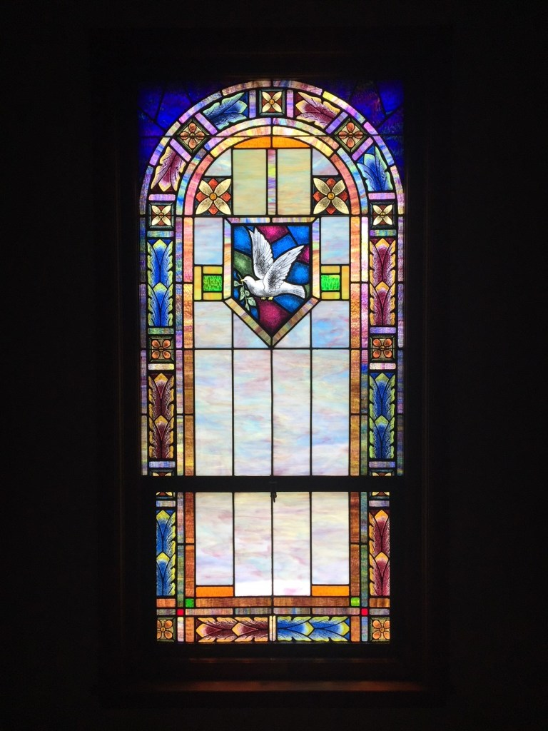 Religious Stained Glass large bird