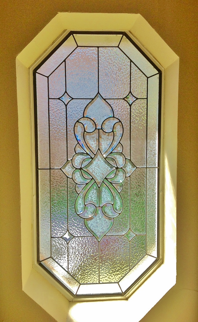 Shaped Bathroom Stained Glass