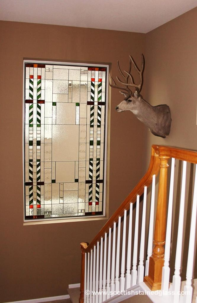 Custom Stained Glass Cabinet