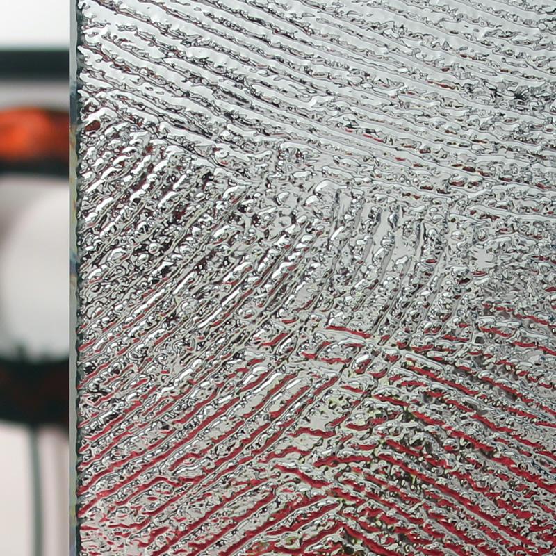 Brush Patterned Glass Sample