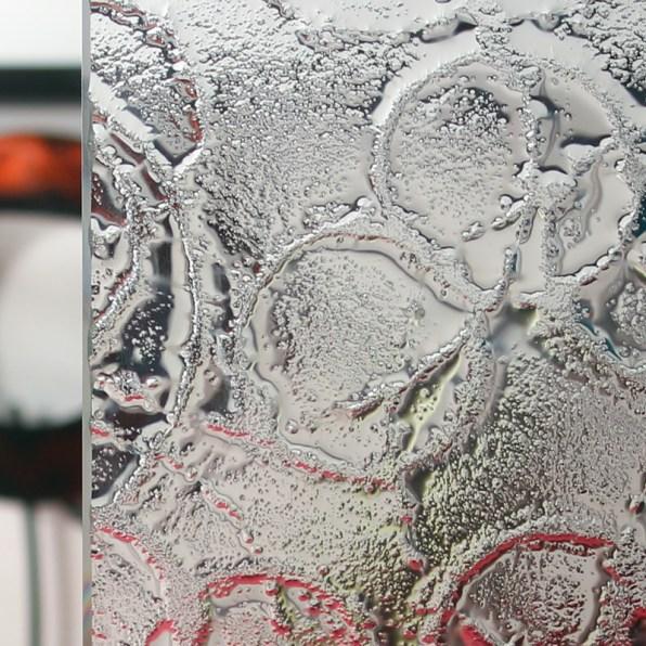 Cardinal Affinity Patterned Glass Sample