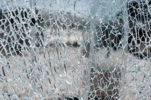 Tempered Glass Break Sample