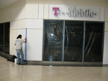 T-Mobile Mall Front Glass - A Cutting Edge Glass & Mirror