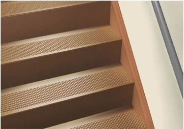 Anti Slip Stair Treads Rubber Stair Tread Covers | Wood Look Vinyl Stair Treads | Ceramic Tile | Shaw Floorte | Laminate Flooring | Roppe | Stair Makeover