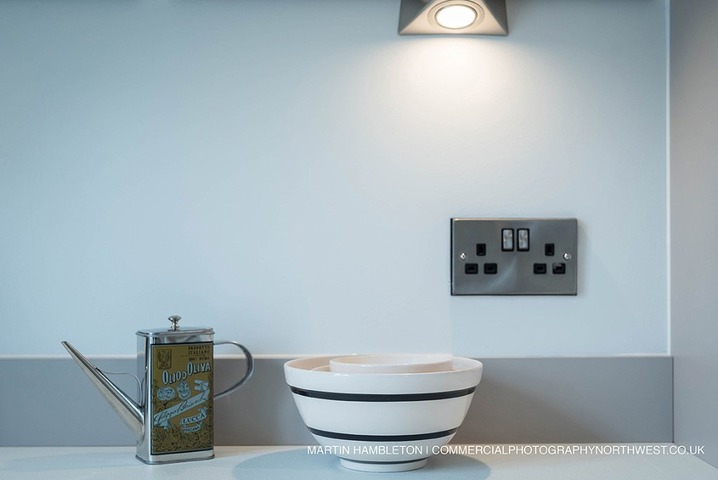 detail shot of kitchen worktop