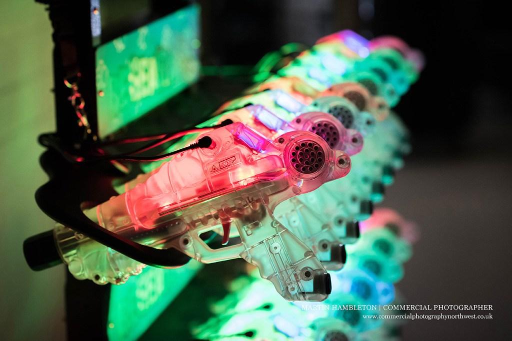 laser quest guns charging