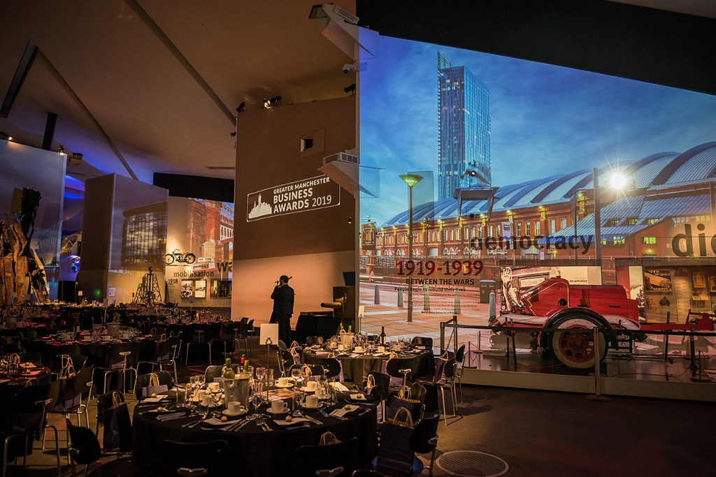 Greater Manchester Business Awards 2019 at the Imperial War Museum North
