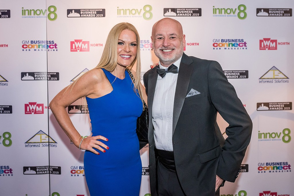 Guests in formal dress at the Greater Manchester Business Awards 2019