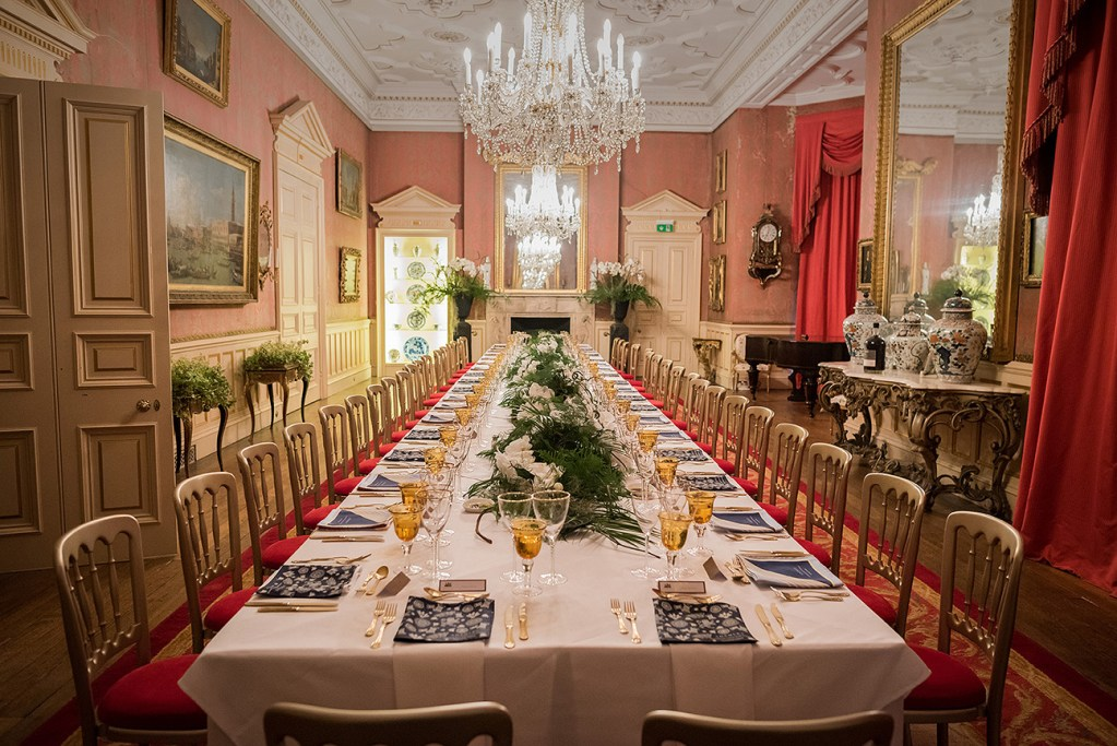 capesthorne hall dining room set for private dinner