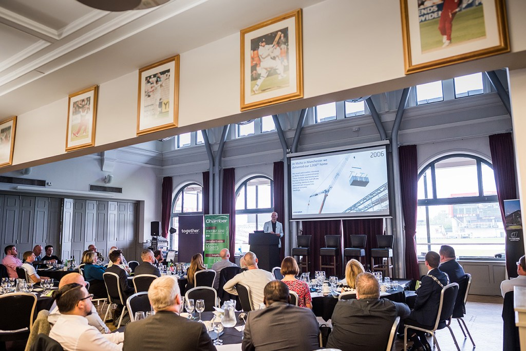 Property lunch in the Members' Suite at Old Trafford cricket ground