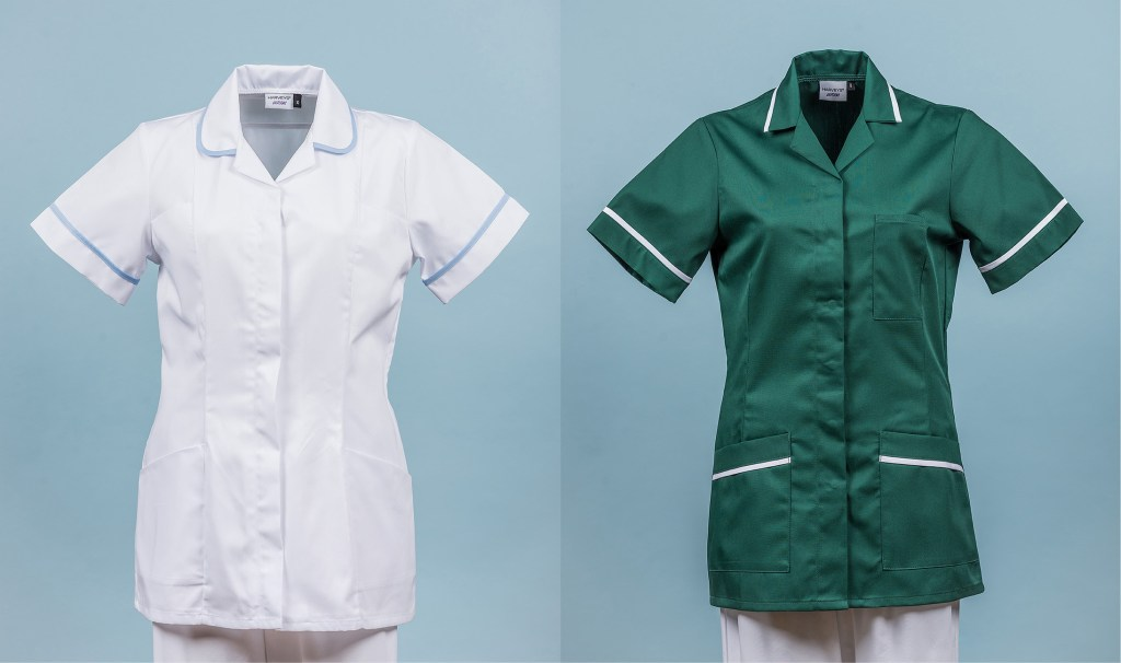 ghost mannequin photography of workwear tunics