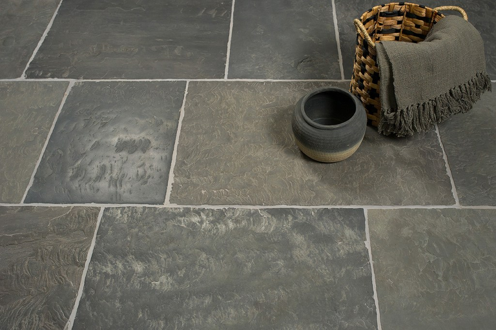 lifestyle product photography, stone floor with ornaments