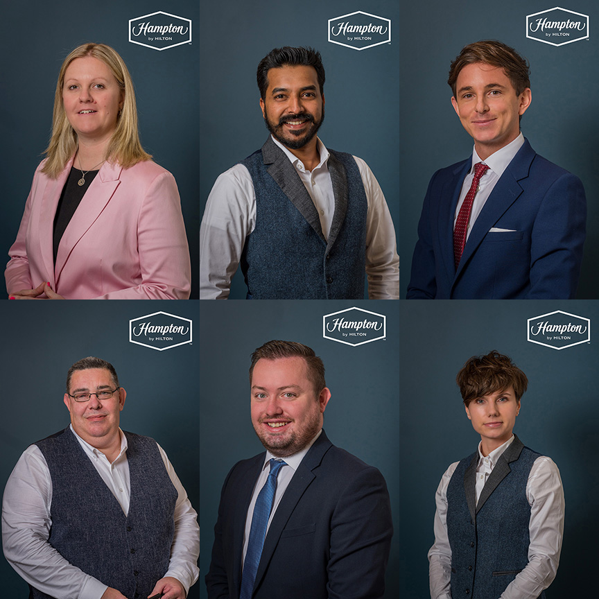 headshots for Manchester hotel Hampton by Hilton