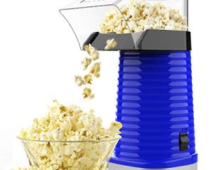 Blue ETL Certified SLENPET 3 Minutes Fast Table Popcorn Popper 1200W Electric Popcorn Maker with Measuring Cup and Top Cover No Oil Required Popcorn Machine for Home Movie Theater BPA-Free