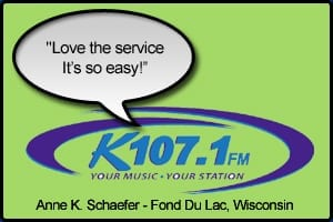 K107.1 FM Testimonial