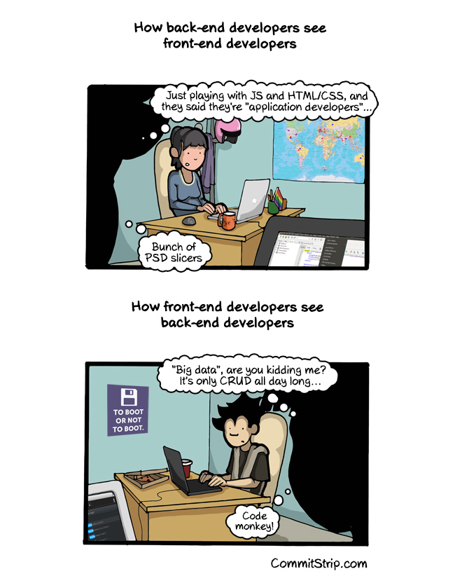 Frontend Vs Backend Programmerhumor