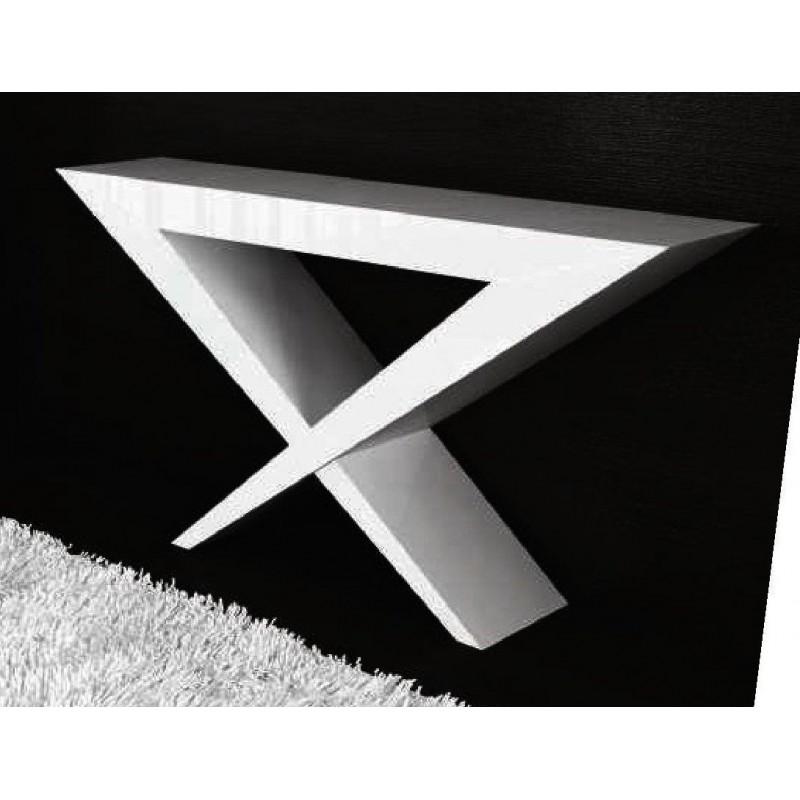 Console Design Blanche Elite Et Miroir Carr