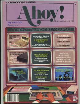 Ahoy! Issue 16 - April 1985 - Laptops - Stocks - Commodore Vic 20 & C64