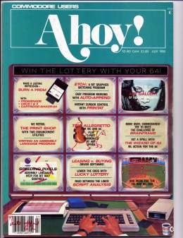 Ahoy! Issue 19 - July 1985 - Lottery -  Commodore Vic 20 & C64