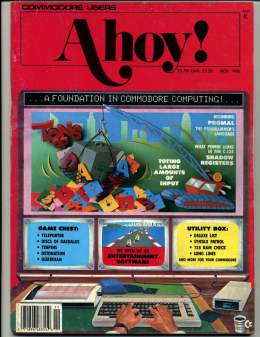 Ahoy! Issue 35 - November 1986 - Foundation - Input - Games - Utility Box - Commodore Vic 20 & C64 128 Amiga