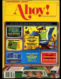 Ahoy! Issue 38 - February 1987 - Tips - Commodore Vic 20 & C64 128 Amiga
