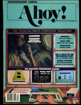 Ahoy! Issue 48 - December 1987 - Pizza Bot - Expansion Port - Commodore Vic 20 & C64 128 Amiga