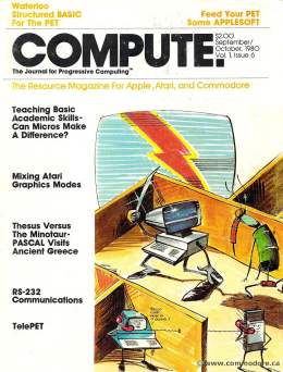 Compute! Magazine Issue #6 - September October 1980