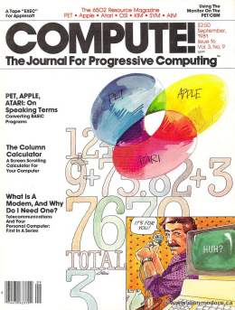 Compute! Magazine Issue #16 - September1981