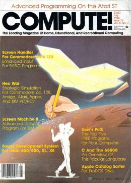 Compute! Magazine Issue #74 - July 1986