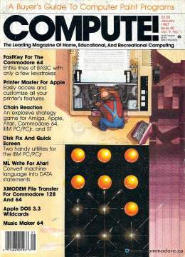 Compute! Magazine Issue #80 - January 1987