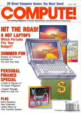 Compute! Magazine Issue #96 - May 1988 - IBM PC - Apple - Commodore - 64 -  Amiga - Atari - Graphics