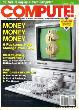 Compute! Magazine Issue #105 - February 1989 - Commodore 128 - 64 - Victor - Jack Tramiel - IBM PC - Apple II - Amiga - Atari ST - Radio Shack - CBM - Mac