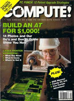 Compute! Magazine Issue #117 - February 1990 - Commodore 128 - Amiga - IBM PS1 - Apple II - Amiga - Build an AT for $1000