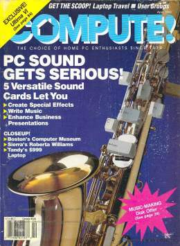 Compute! Magazine Issue #119 - April 1990 - Commodore 128 - Amiga - IBM PS1 - Apple II - Amiga - Sound Cards