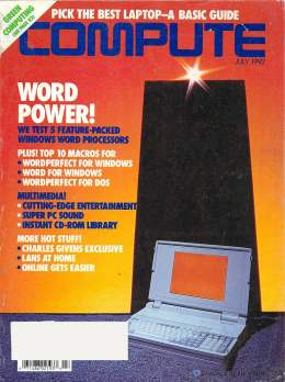 Compute! Magazine Issue #142 - July 1992 - Word WordPerfect for DOS Multimedia Windows 3.1 Commodore Apple Microsoft