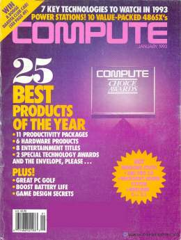 Compute! Magazine Issue #148 - January 1993 - 486SX Best Products Intel Commodore Apple Microsoft IBM
