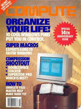 Compute! Magazine Issue #157 - October 1993 - Windows PIMS Super Macros Stacker DoubleSpace Commodore Apple Microsoft IBM
