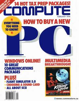 Compute! Magazine Issue #161 - February 1994 -How to Buy a PC Communications Flight Simulator 5.0 Commodore Apple Microsoft IBM