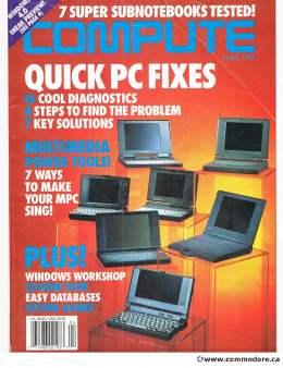Compute! Magazine Issue #163 - April 1994 - Quick PC Fixes - Diagnostics - MPC - Windows Workshop - Commodore Apple Microsoft IBM