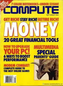 Compute! Magazine Issue #168 - September 1994 - Last Issue - Modem Combat How to Upgrade Your PC Money Tools - Commodore Apple Microsoft IBM