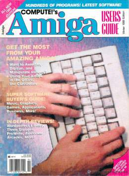 Compute!s Amiga Users Guide 1989 Commodore Amiga Reviews Classroom Music Graphics Games Business Applications