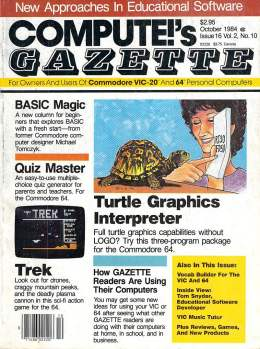 Compute Gazette - Issue 16 - October 1984 - BASIC Magic - Quiz Master - Commodore VIC-20 64