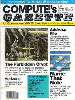 Compute Gazette - Issue 20 - February 1985 - Commodore VIC-20 64