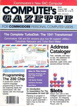 Compute Gazette - Issue 38 - August 1986 - Z80 - Commodore VIC-20 64 128 Amiga