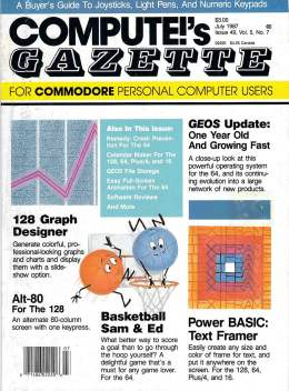 Compute Gazette - Issue 49 - July 1987 - 128 Graphs - Geos Update - - Commodore VIC-20 64 128 Amiga